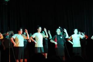 Maori song followed by Haka (photo courtesy of Mohan Gurung)
