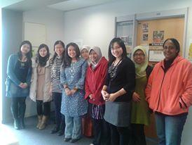 Ibu ABink bersama Doctoral Student dari Berbagai Negara